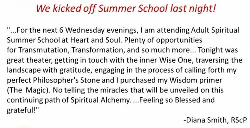 summer school testimony - Diana Smith RScP