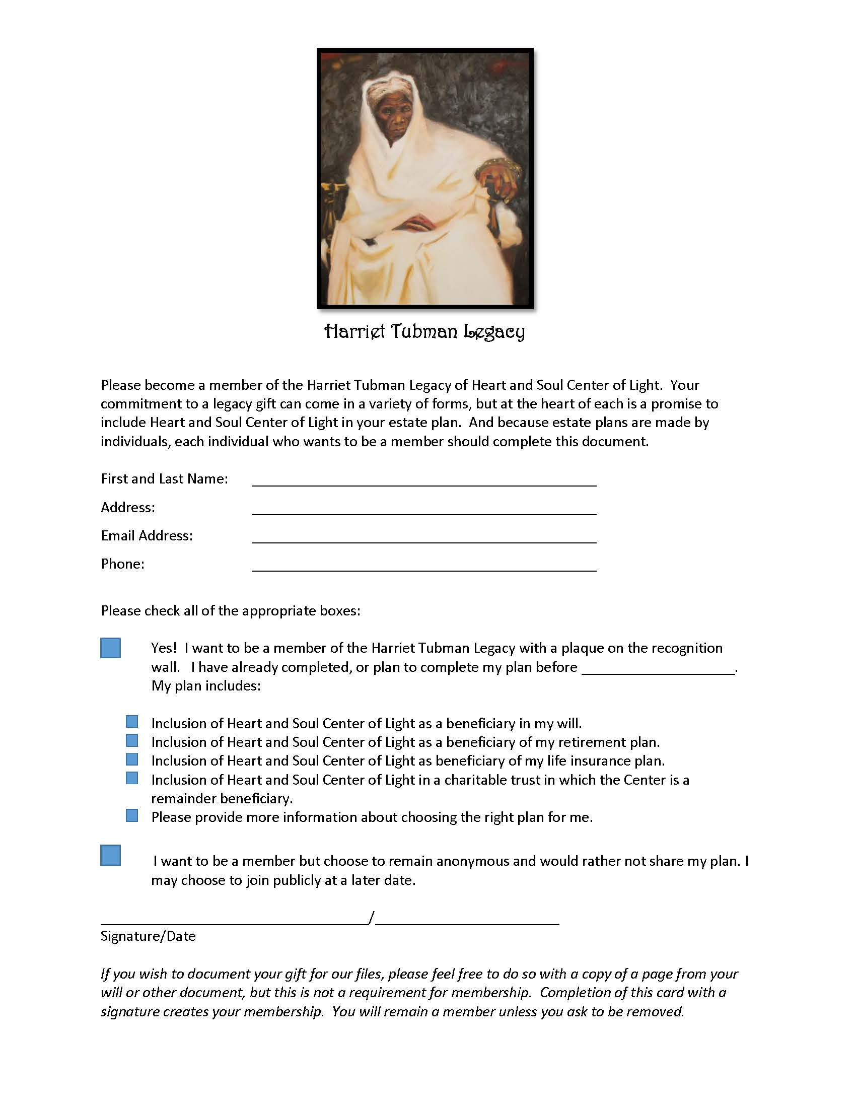 Tubman Society commitment form_v 3-srr
